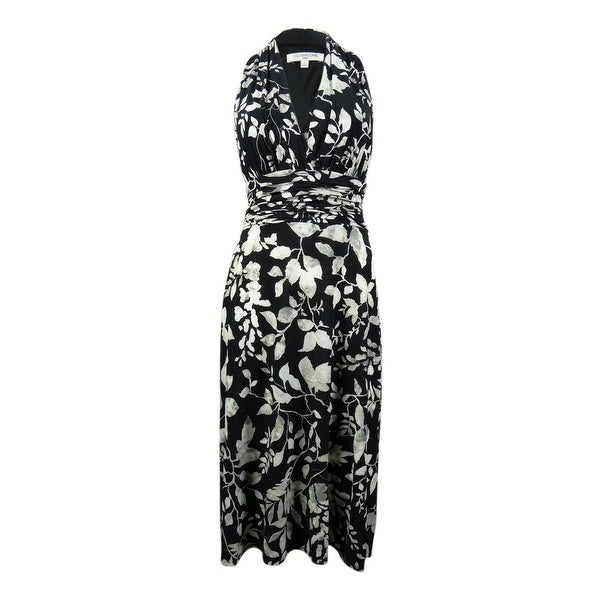 Shop Evan Picone Womens Printed Halter Racerback Jersey Dress