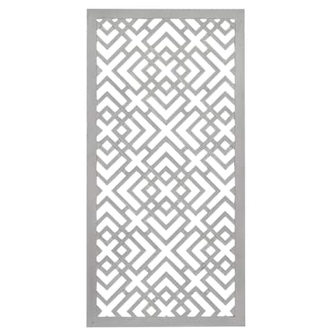"Large White Rectangular Wood Wall Decor 24"" x 48"""