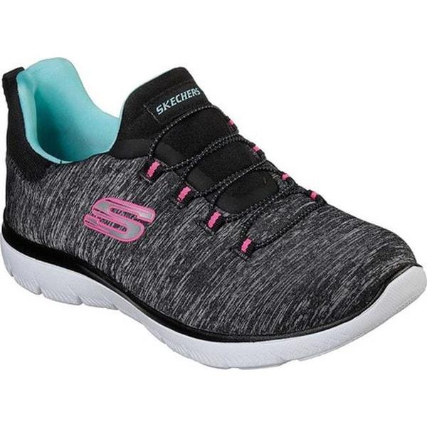 4c8e9373de5c Shop Skechers Women s Summits Quick Getaway Sneaker Black Light Blue ...