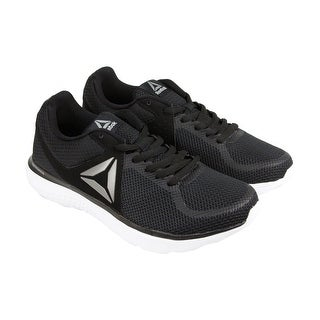 Reebok Astroride Mens Black Mesh Athletic Lace Up Running Shoes