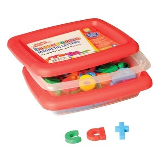 Educational Insights Lowercase Magnetic Letters, 1-1/2 Inches, Multicolors, Set of 42