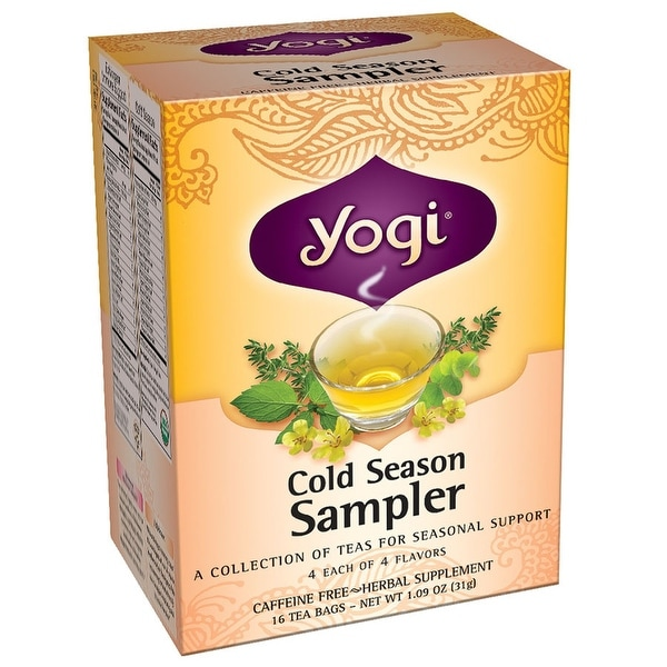 Cold season, sampler, 16 tea bags | yogi tea | vitamin experts.