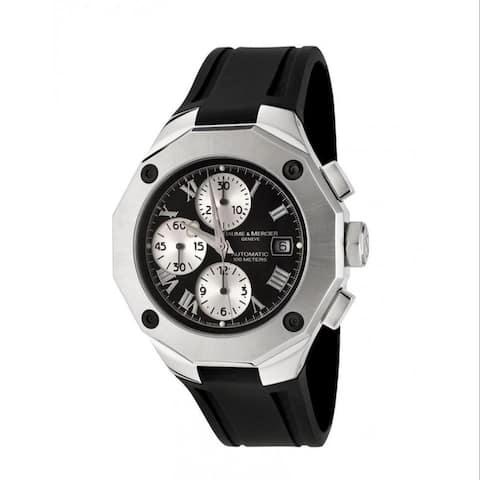 Baume & Mercier Men's MOA08594 'Riviera' Chronograph Black Rubber Watch