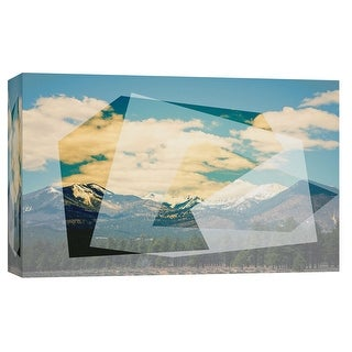 "PTM Images 9-102282  PTM Canvas Collection 8"" x 10"" - ""The Geometric Hills 1"" Giclee Abstract Art Print on Canvas"