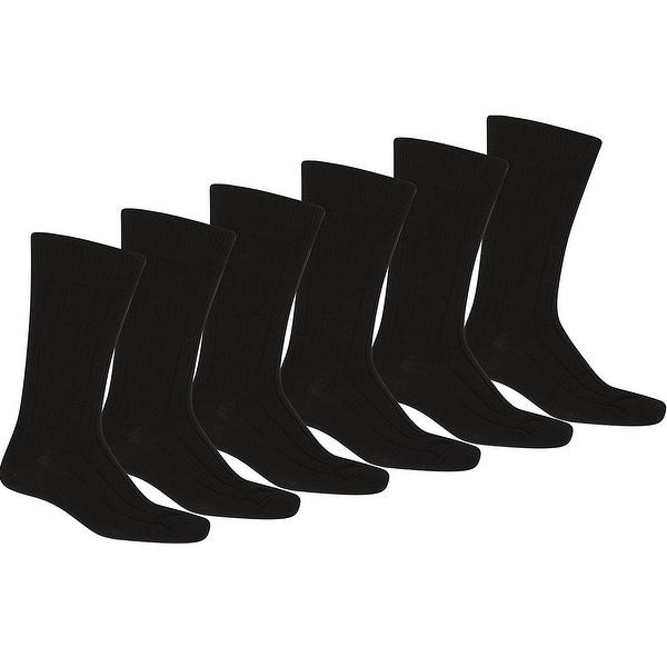 Knocker Mens Plain Dress Socks Black 12 Pairs (9-11)