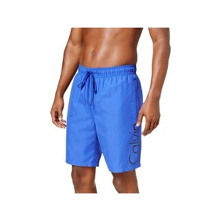 Calvin Klein Mens Drawstring Colored Swim Trunks