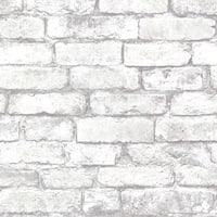 Brewster 2604-21261 Brickwork Light Grey Exposed Brick Texture Wallpaper - light grey brick - N/A