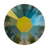 Swarovski Crystal, Round Flatback Rhinestone Hotfix SS12 3mm, 50 Pieces, Crystal Iridescent Green