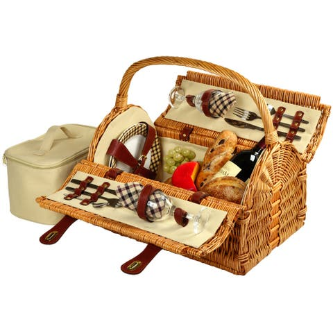 Picnic at Ascot Sussex Picnic Basket for 2 (709-L)