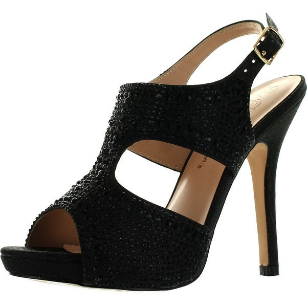 De Blossom Womens Yael-71 Stunning Glitzy Evening Party Heels Sandals Shoes