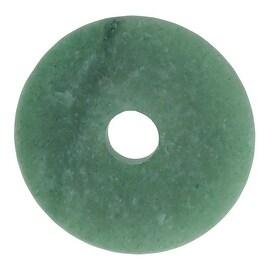 Matte Green Aventurine Gemstone Pendants, Circle Donut 40mm, 1 Piece, Jade Green