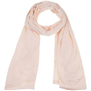 Women's Jersey Rhinestone hijab scarves fashion long plain scarf wrap shawls (Option: Beige)