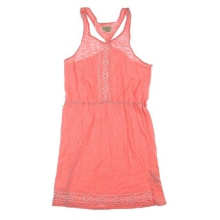 Lucky Brand Girls Embroidered Casual Dress