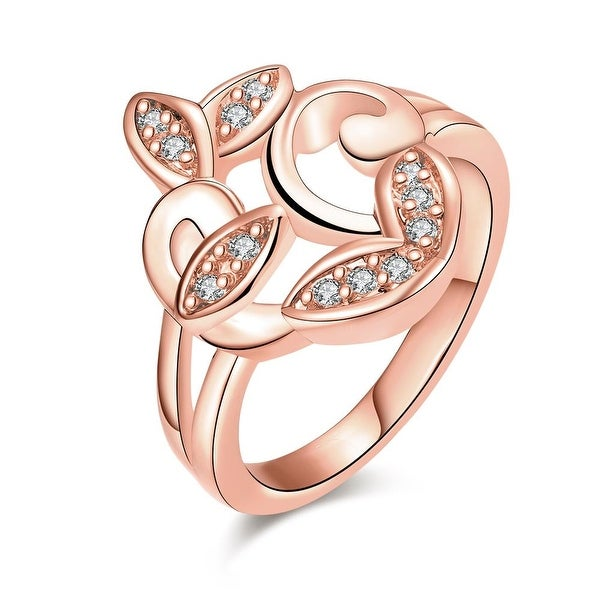 Rose Gold Apple Bottom Design Ring