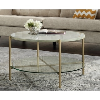 Link to Silver Orchid Howell Faux Marble Round Coffee Table Similar Items in Living Room Furniture