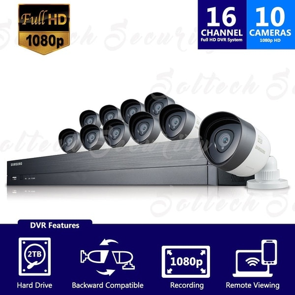 SDH-C75100 - Samsung 16 Channel 1080p HD 2TB Security System with 10 Cameras (Refurbished)