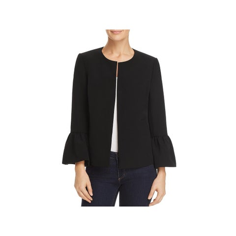 Vince Camuto Womens Open-Front Blazer Ruffled Bell Sleeves