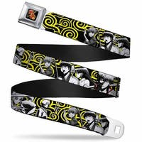 Crunchyroll Gin Tama Kanji Full Color Logo Black Gold Red Gin Tama 7 Seatbelt Belt