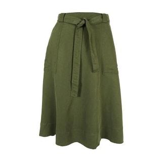 Tommy Hilfiger Women's A-Line Utility Skirt
