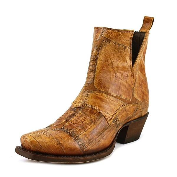Nocona Dakota Bootie Women Square Toe Leather Tan Western Boot