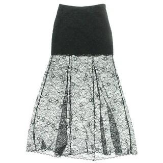 DKNY Womens Lace A-Line Maxi Skirt - 2