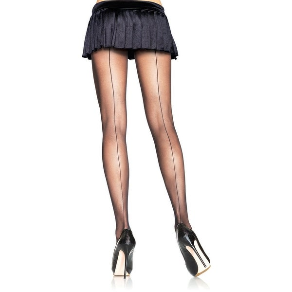 Sheer Backseam Pantyhose - One Size Fits Most