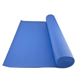 GoFit Yoga Mat with Yoga Posture Poster - Blue