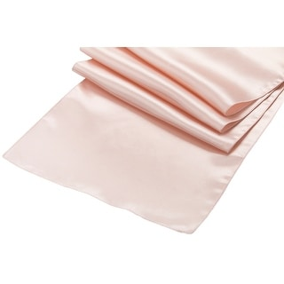 """Lamour Satin Table Runner Approx. 14""""x108"""" 100% Polyester - Ivory"""
