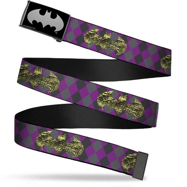 Batman Reverse Brushed Silver Cam Snake Skin Bat Signal Plaid Grays Web Belt