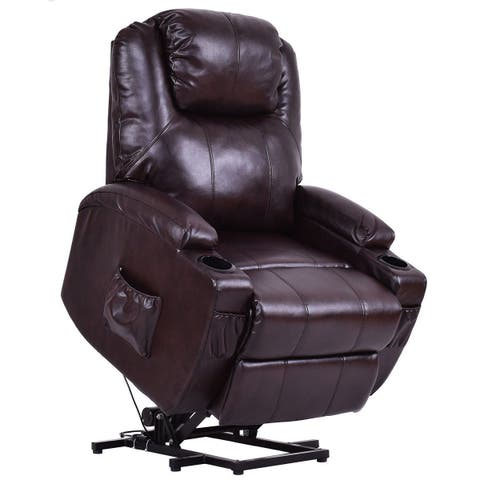 Buy Brown Leather Recliner Chairs Rocking Recliners