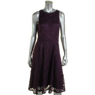 Tahari ASL Womens Casual Dress Lace Pleated