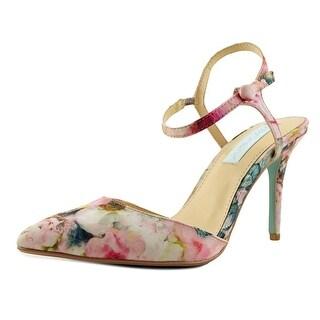 Betsey Johnson Anina   Pointed Toe Canvas  Heels