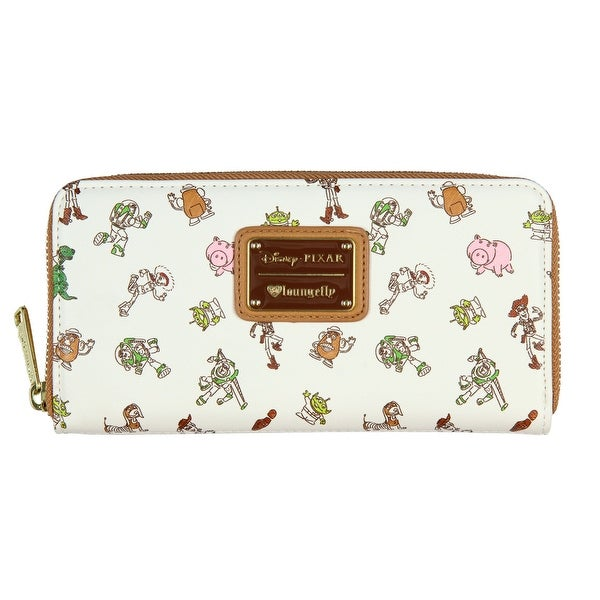 bdd470b21e3 Loungefly x Disney Pixar Toy Story Allover Character Print Zip Around Wallet  - One Size Fits