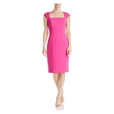 ELIZA J Womens Pink Cap Sleeve Knee Length Sheath Dress Size 4