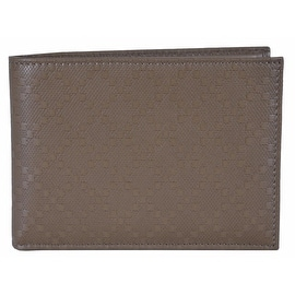 NEW Gucci 278596 Men's Soft Khaki Leather Diamante Bifold Wallet