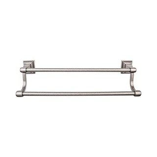 Top Knobs STK7 Stratton Bath 18 Inch Double Towel Bar - n/a (5 options available)