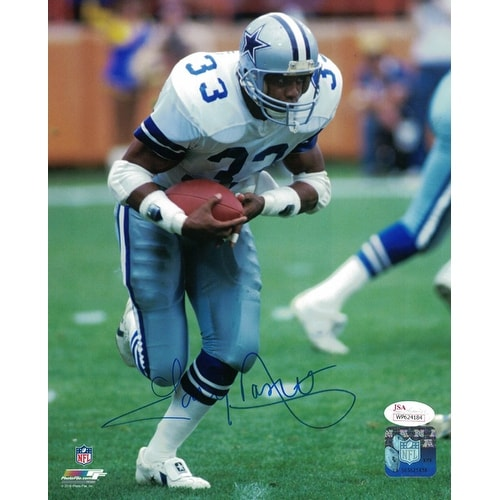 info for 649ee 915f6 Tony Dorsett Autographed Dallas Cowboys 8x10 Photo Solo White JSA