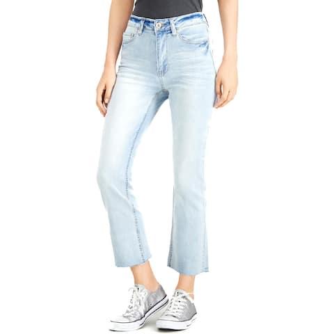 Dollhouse Womens Juniors Bootcut Jeans Cropped High Waist - Light Wash - 7