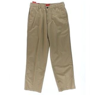 Izod Mens Cotton Flat Front Khaki Pants - 38/34