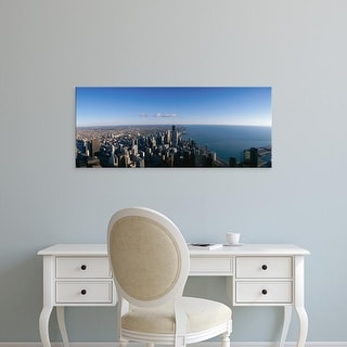 Easy Art Prints Panoramic Images's 'Chicago skyline' Premium Canvas Art
