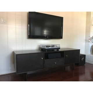 Strick & Bolton Lawrence Brown Rubberwood Entertainment Center