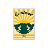 Oakland Athletics - Vintage MLB - 16x24 Gallery Wrapped Canvas Wall Art