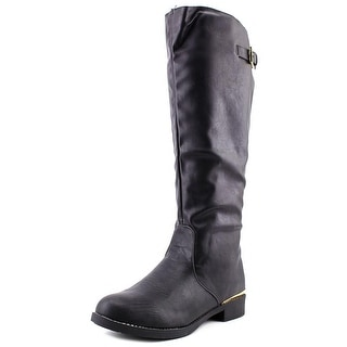 Qupid Turner-07 Women Round Toe Synthetic Knee High Boot