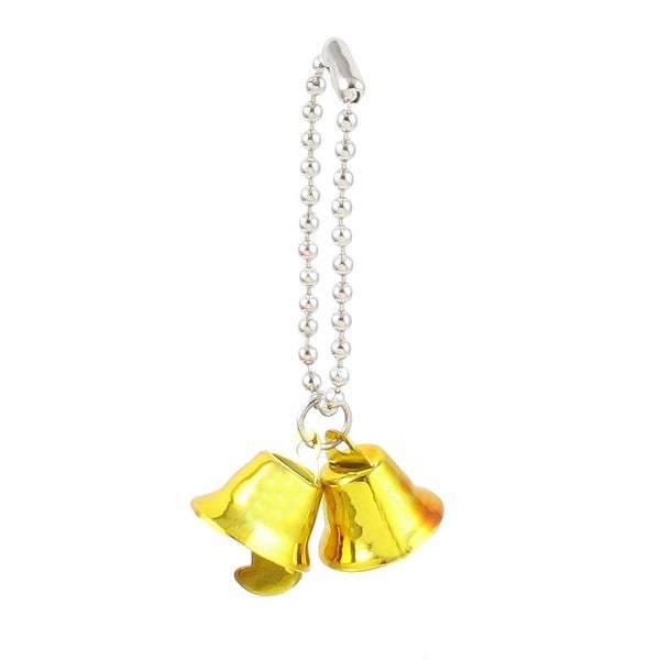 Unique Bargains 0.6 Dia Ring Bell Pendant Chain Christmas Tree Decor Xmas Gift Gold Tone
