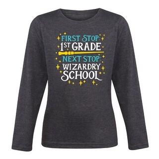 Wizardry School First Grade - Youth Girl Long Sleeve Tee