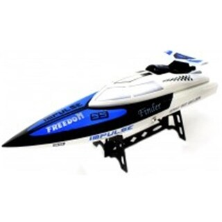 Az Import & Trading BT912 White RC Speed Racing Boat - 18 in.