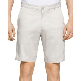 Calvin Klein Mens Khaki, Chino Shorts Slim Fit Grosgrain-Waist