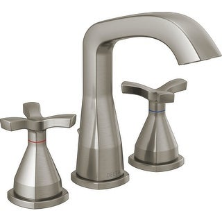 Delta 357766-MPU-DST  Stryke 1.2 GPM Widespread Bathroom Faucet with Pop-Up Drain Assembly and Diamond Seal Technology