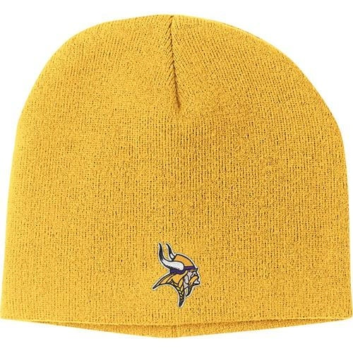 007b73a4261 Shop Minnesota Vikings Gold Basic Logo Cuffless Knit Hat - Free Shipping On  Orders Over  45 - Overstock - 18682110