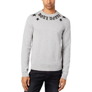 Guess Mens More Money Pullover Sweater Knit Crew